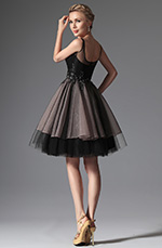 eDressit 2014 New Black Straps Cocktail Dress Party Dress (04144200)