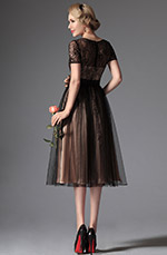 eDressit 2014 New Black Overlace Tea Length Formal Dress (04145300)