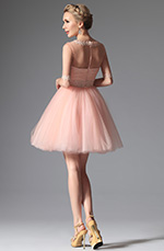 eDressit 2014 New Pink Elegant Sleeves Cocktail Dress Bridesmaid Dress (04146401)