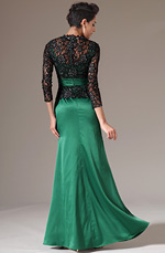 eDressit 2014 New Black Lace Top Long Sleeves Green Mother of the Bride Dress (26143104)