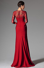 eDressit 2014 New Red Round Neckline Mother of the Bride Dress (26148102)