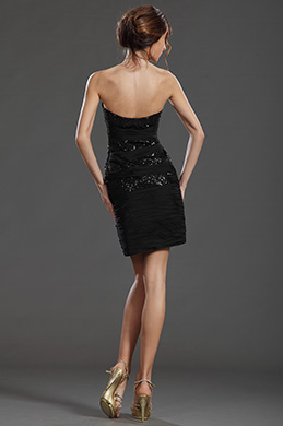 eDressit Sexy Sequin Noire Robe de Cocktail(35130100)