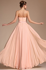 Carlyna 2014 New Simple Elegant Light Pink Strapless Evening Dress Bridesmaid Dress (C00117301)