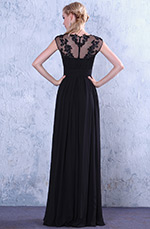 Beaded Lace Applique Long Evening Dress Formal Gown (C00140100)
