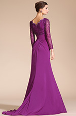 Carlyna 2014 New Sexy V-Neck Lace Top Sleeves Mother of the Bride Dress (C26140312)