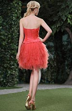 Stunning Coral Top Beaded Graduation Dress Party Dress (C35143457)