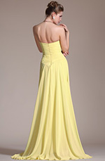 Carlyna 2014 New Yellow Sweetheart High Split Chiffon Graduation Dress/Evening Dress (C36141003)