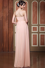 Simple Strapless Sweetheart Neck Pleated Evening Gown Bridesmaid Dress (C36144401)