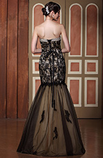 Elaborate Beaded Sweetheart Neck Floral Lace Graduation Dress Ball Gown (C36144820)