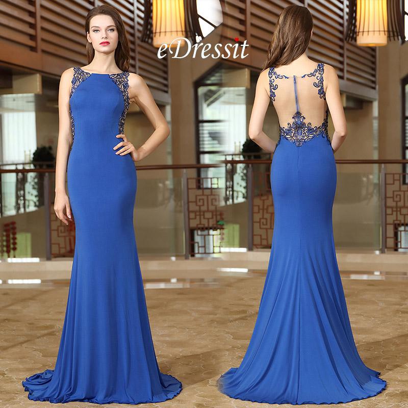 Robe de soir e bleue robe bleue pour mariage edressit for Robe bleue pour mariage