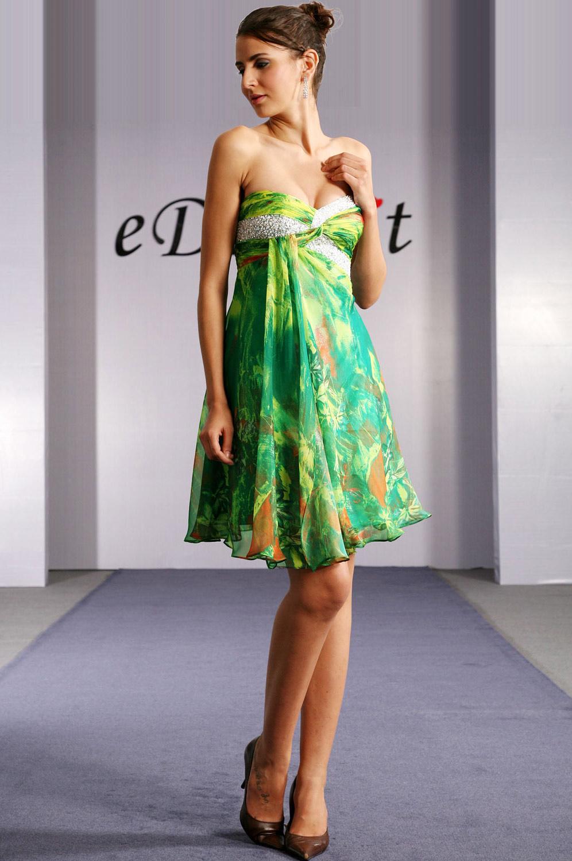 edressit sexy robe de soir e gala courte verte 04091868. Black Bedroom Furniture Sets. Home Design Ideas