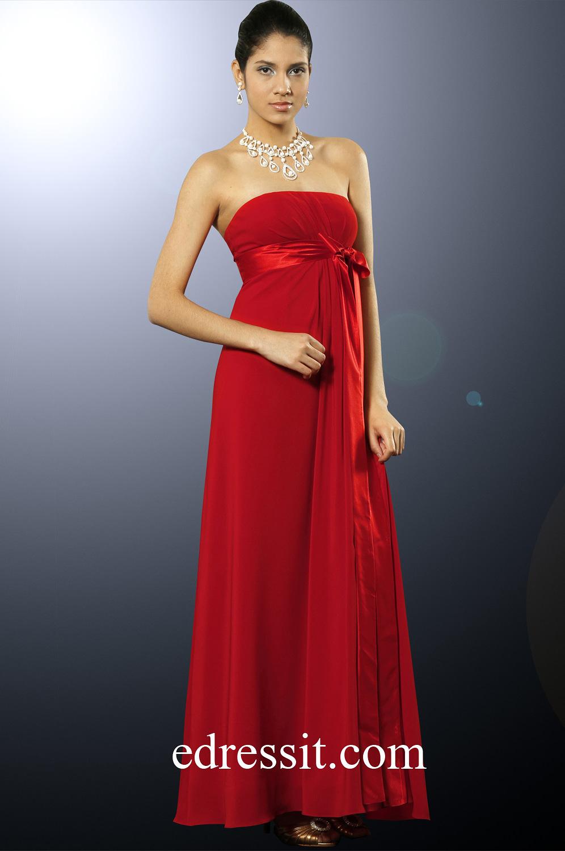 eDressit Shakira Red Strapless Bridesmaid Dress (00098602)