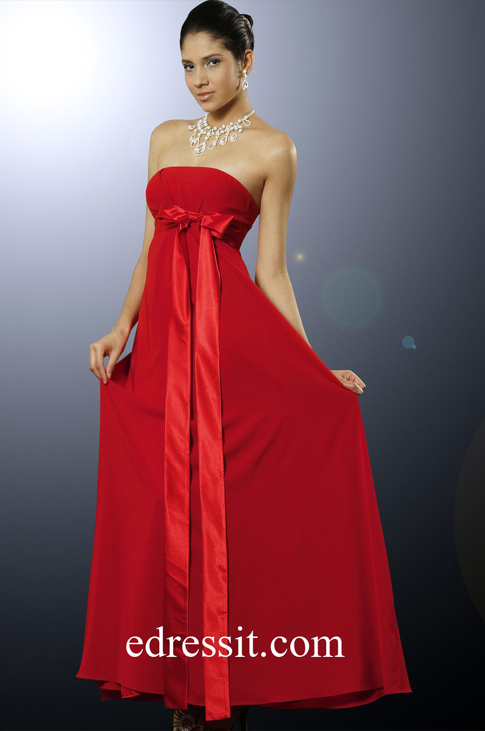 eDressit Shakira Red Strapless Bridesmaid Dress (00098602)