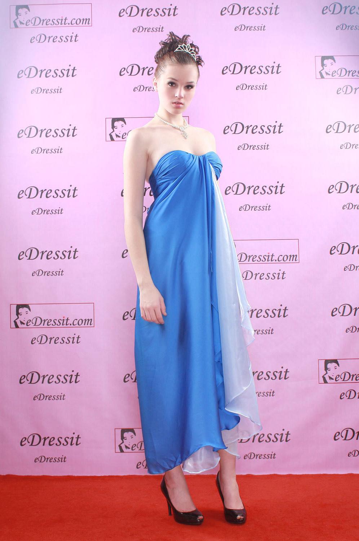 eDressit Elegante Vestido Largo de Noche/Fiesta/Boda Azul (00776805)