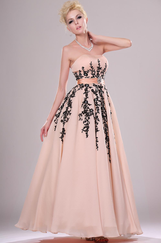 eDressit Fantastico Vestido de Noche Sin tirante Con encaje (00115501)
