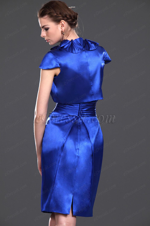 edressit neue artikel glanzende blaue zwei st cke kleider der mother f r die braut 26112405. Black Bedroom Furniture Sets. Home Design Ideas