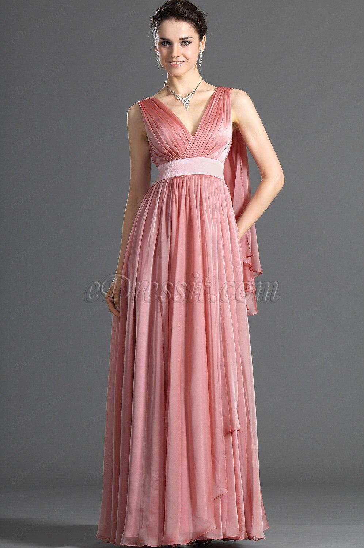 eDressit Novedad Fantastico Escote en V Vestido de Noche Largo ...