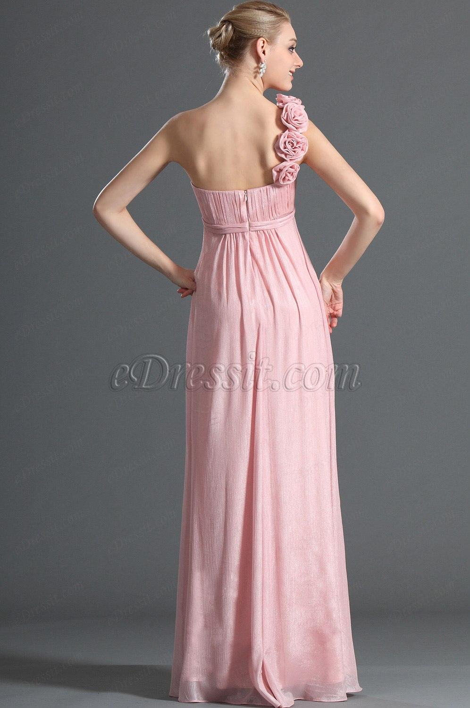 eDressit Elegante Unico Vestido para Dama de Honor Rosado (07121401)