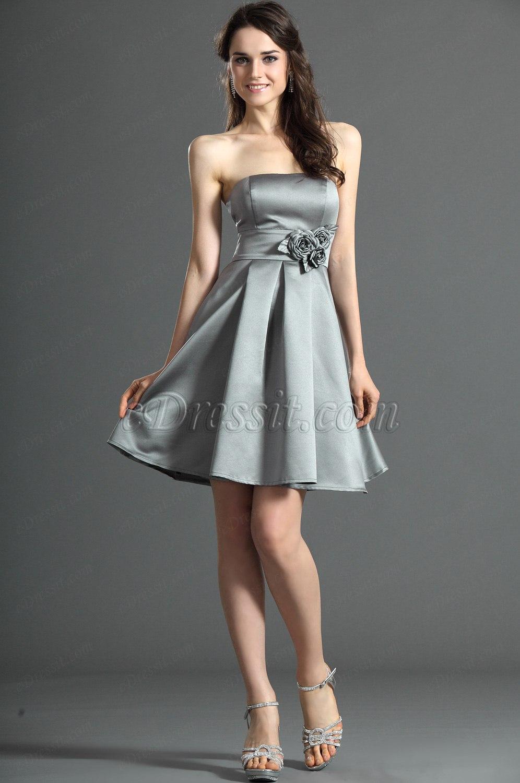 edressit jolie bustier grise robe de demoiselle d 39 honneur 07121908. Black Bedroom Furniture Sets. Home Design Ideas
