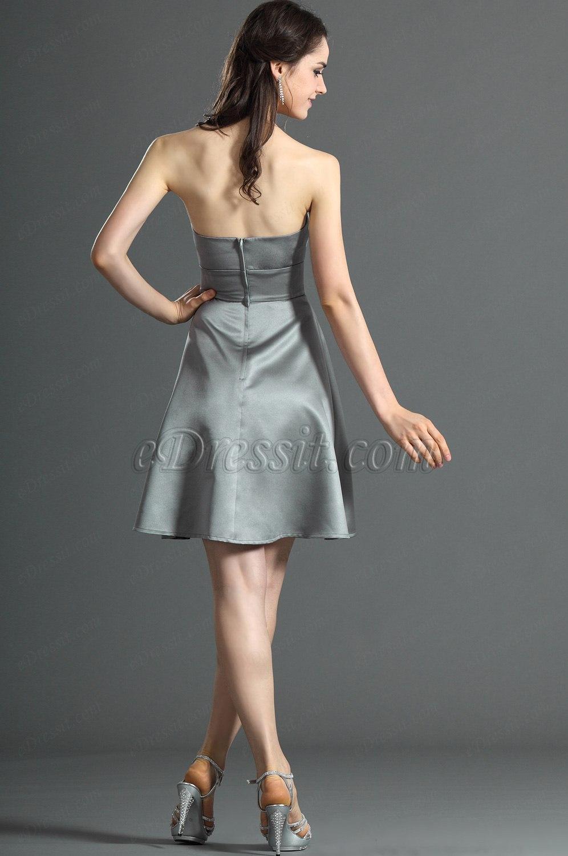 Edressit jolie bustier grise robe de demoiselle d 39 honneur - Robe demoiselle d honneur grise ...