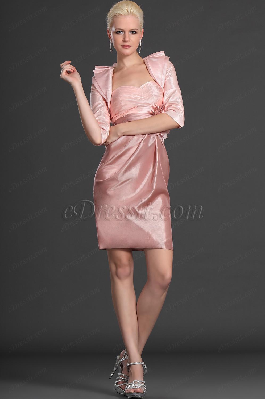 eDressit Novedad Elegante Dos Piezas Rosa Vestido de Ceremonia para ...