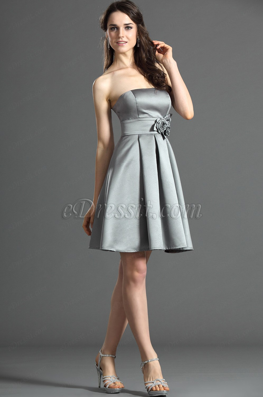 Edressit jolie bustier grise robe de demoiselle d 39 honneur 07121908 - Robe demoiselle d honneur grise ...