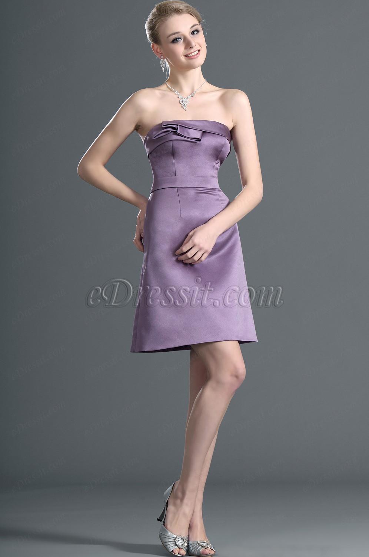 eDressit Süß Ärmellos Lila Cocktail Kleid Ballkleid (07120306)