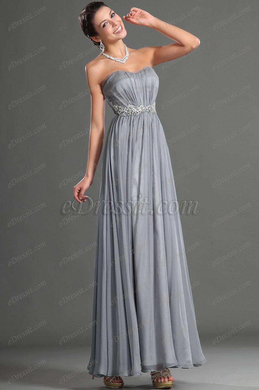 Vestidos de noche gris