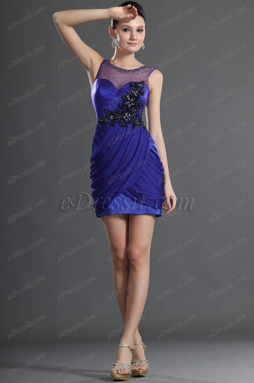 eDressit Fabulous Blue Cocktail Dress Party Dress (04123905)