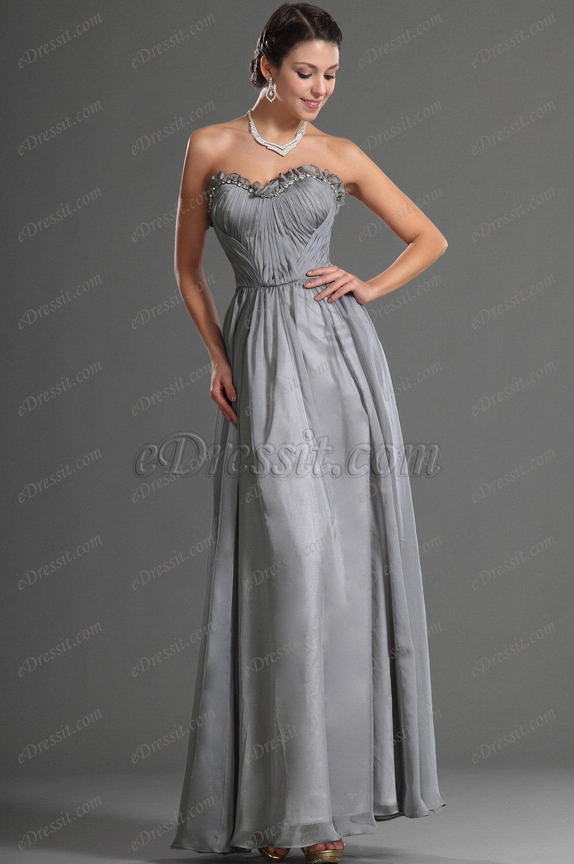 edressit jolie bustier grise robe de soiree 00128708. Black Bedroom Furniture Sets. Home Design Ideas