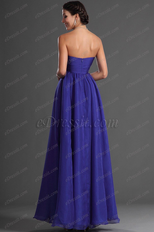 edressit jolie bustier bleue robe de soiree 00128805. Black Bedroom Furniture Sets. Home Design Ideas