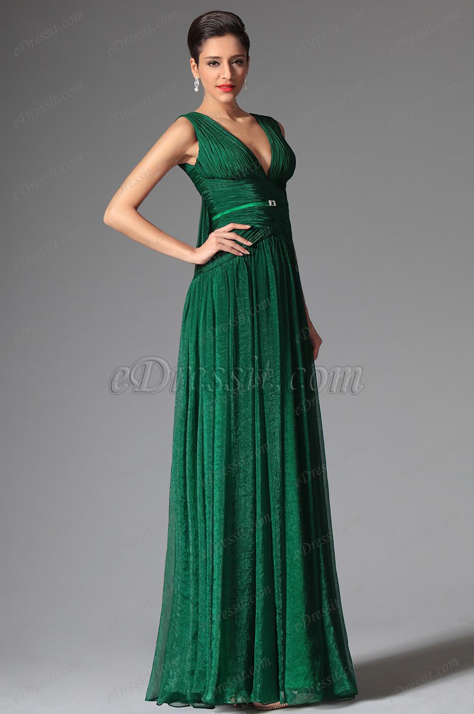 Зеленое платье в пол фото