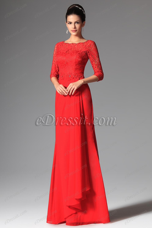 EDressit 2014 очаровательное красное вечернее платье на выпускной