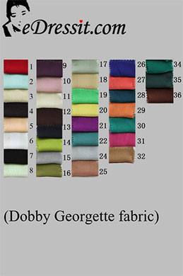 eDressit Dobby Georgette Farbemuster (50100101A)