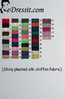 eDressit glänzend gefaltet Seide Chiffon Farbemuster (50100102A)