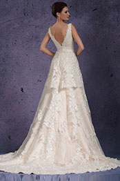 eDressit 2013 Neu V-Ausschnitt Spitze Abendkleid Hochzeitskleid (01131014)