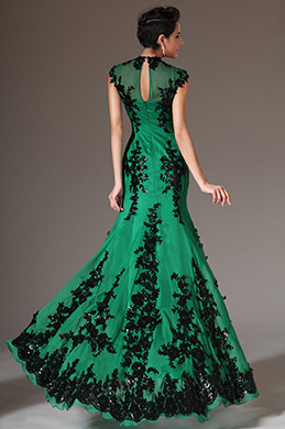 eDressit 2014 Green New Adorable Black Lace Evening Dress (02120704)