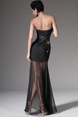 eDressit 2014 New Strapless Sweetheart Black Evening Dress (00140900)