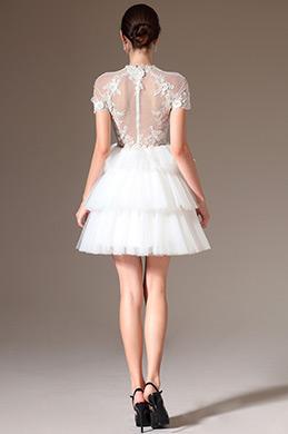 eDressit 2014 Neu Sheer Lace Top Layered Kurze Brautkleider(01140507)