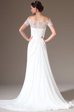 eDressit 2014 Neu Wunderbar Overlace Schließende Schulter Hochzeitskleid (01140707)