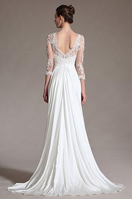 eDressit 2014 Neu Romantisch Sheer Top Spitze Hochzeitskleid(01141307)