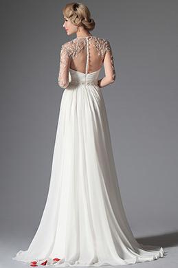 eDressit 2014 Neu Romantisch Ärmel Hochzeit Kleid   (01141507)