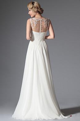 eDressit 2014 Neu Weiß Ärmellos Abendkleid Hochzeit Kleid (01141707)