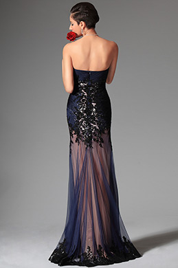 eDressit 2014 New Navy Blue Sweetheart Sequin Evening Dress Prom Gown (02147605)