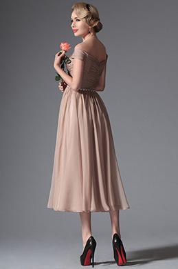 eDressit 2014 New Rosy Brown Off Shoulder Tea Length Dress (04145046)