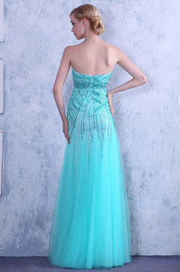 Gorgeous Shining Beaded Strapless Prom Gown Graduation Dress (C36145405)