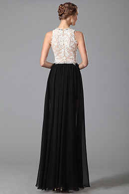 Stunning Round Neck High Low Lace Gown Evening Dress (00151100)