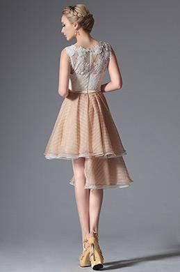 Lovely Stylish Top Lace Asymmetric Cocktail Dress Party Dress (04144314)