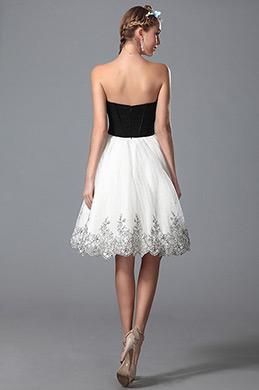 Newest Stylish Strapless V Cut Cocktail Dress Homecoming Dress (04150107)