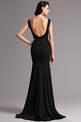 ball dresses online. sleeveless illusion v neck black formal dress gown (00160800) ball dresses online